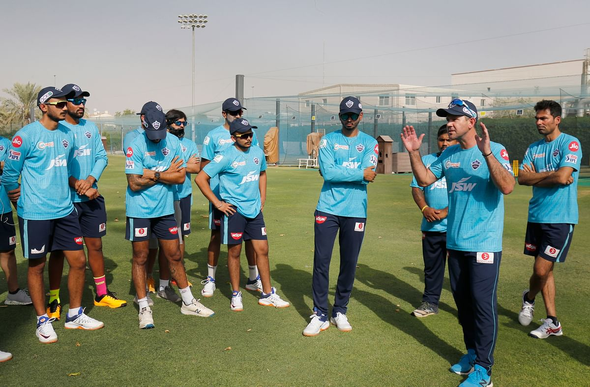 Delhi Capitals during a practice session ahead of the IPL 13.