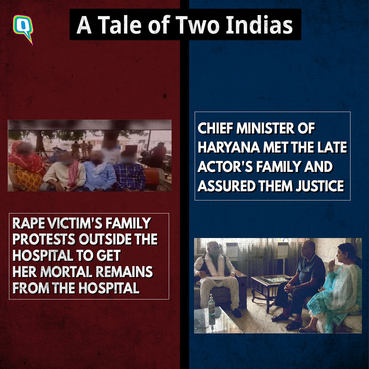 A Tale of Two Indias: Sushant vs Hathras Rape Victim's Death