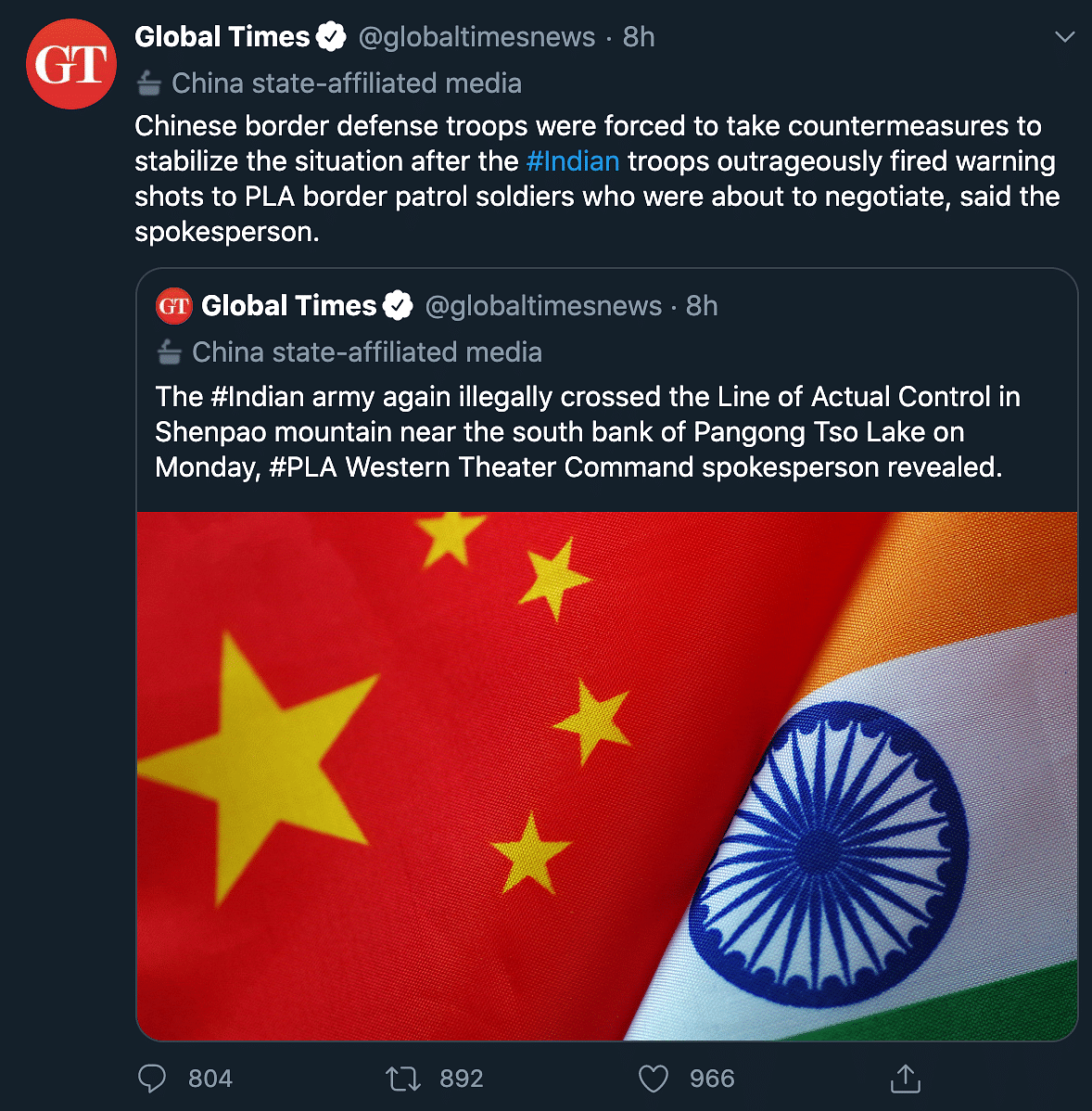 Didn't Cross LAC or Resort to Firing: Indian Army on China's Claim