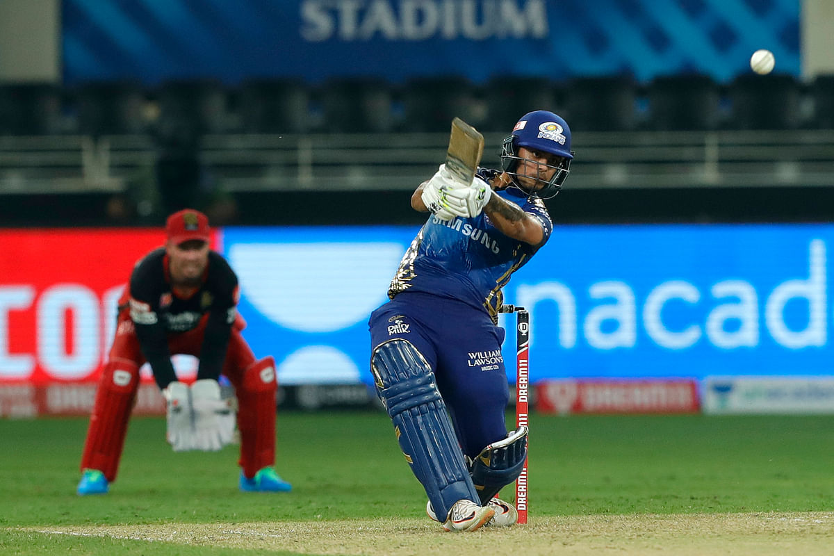 Mumbai Indians' Ishan Kishan scored a 58-ball 99 against RCB.