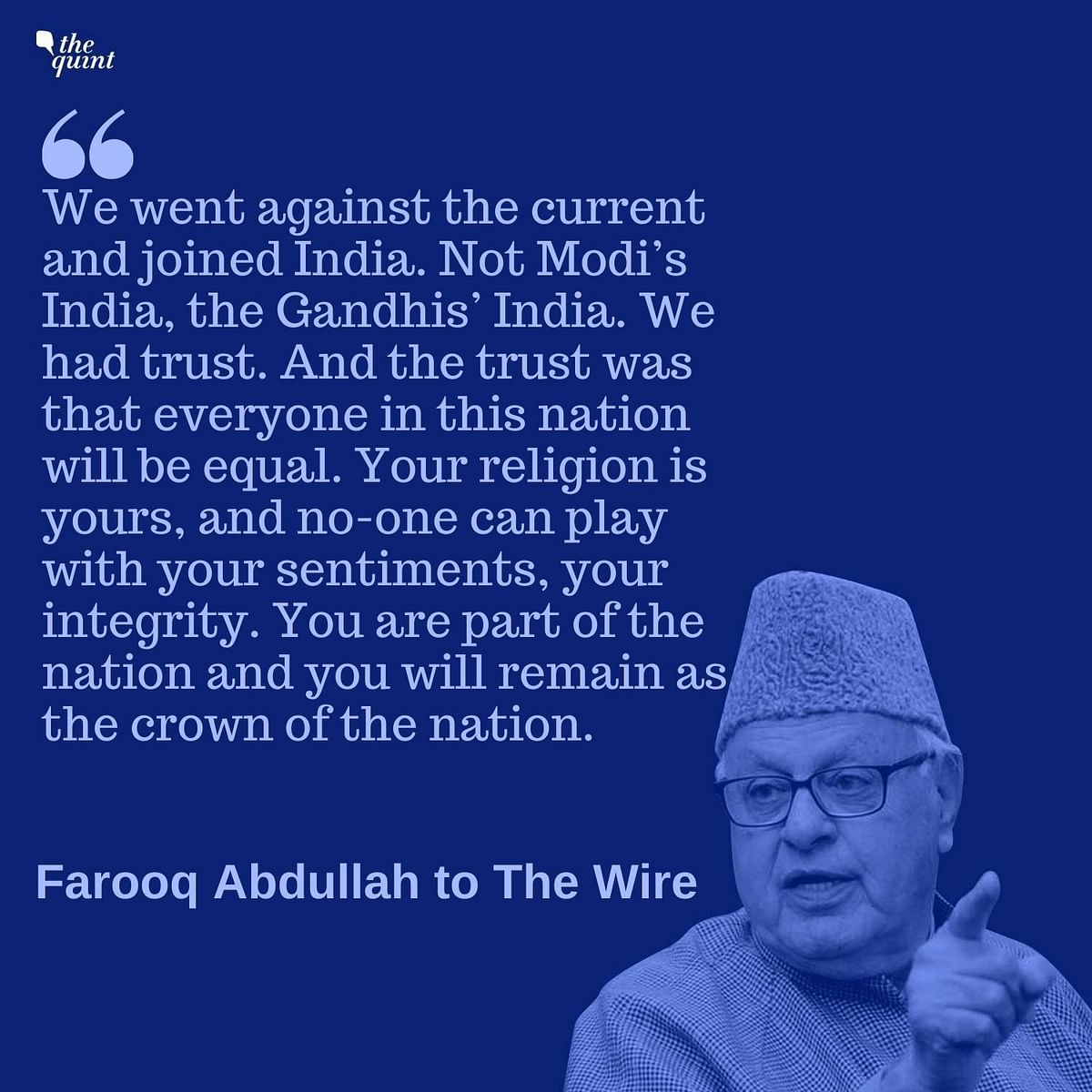 India Has Lost the Trust of Kashmiris: Farooq Abdullah to The Wire