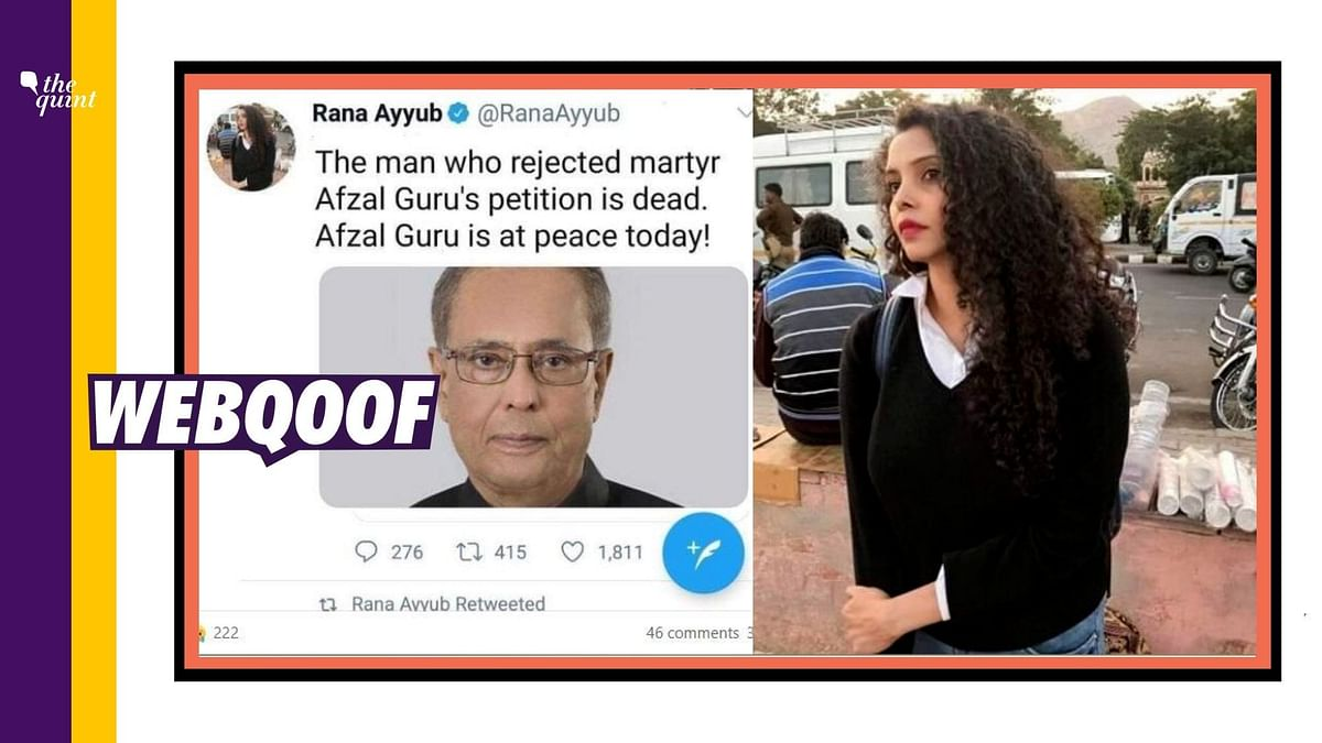 Fake Tweet on Pranab Mukherjee Attributed to Rana Ayyub Goes Viral