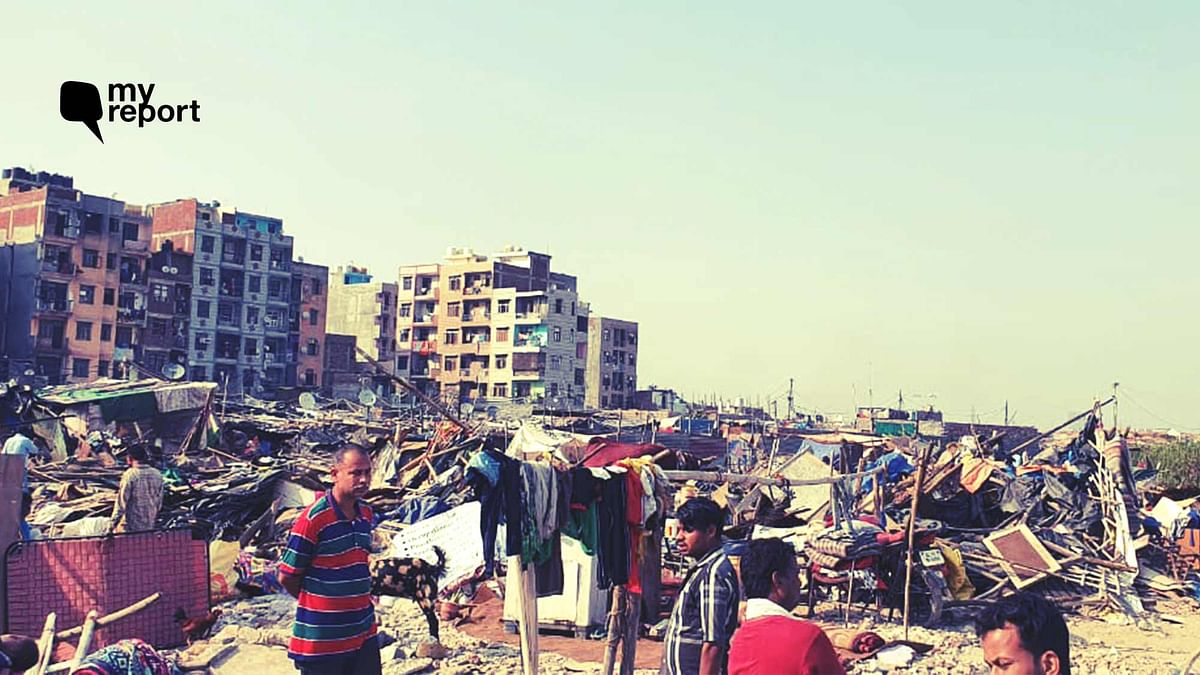 Residents of Delhi's Batla House  have been rendered homeless after a slum clearance drive on 24 September.
