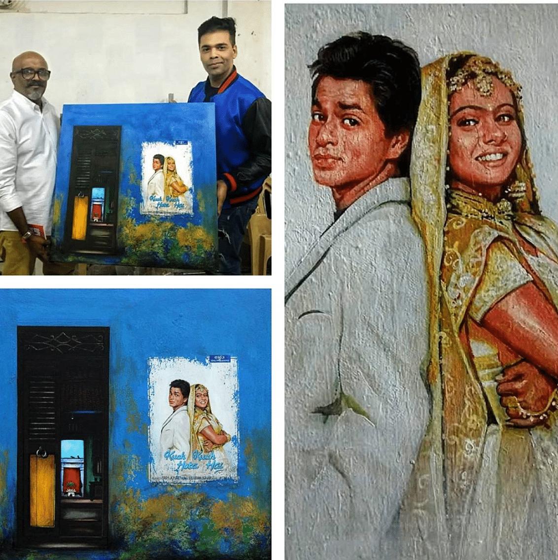 Santhana Krishnan gifted a personalised piece to Bollywood director Karan Johar.