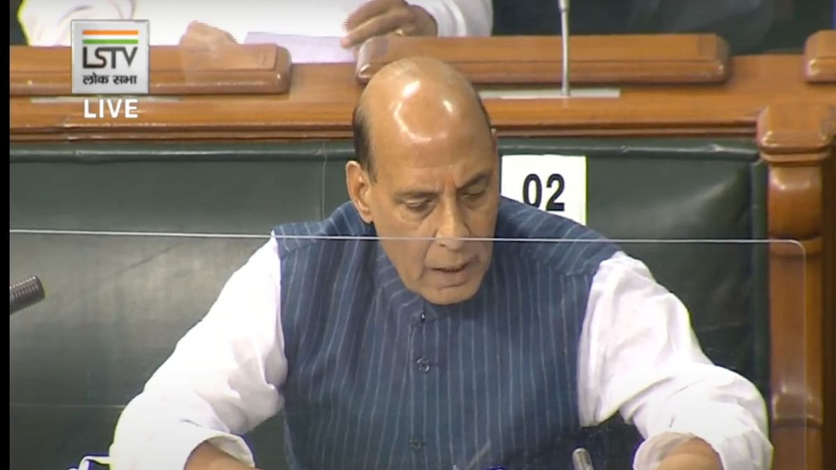 Defence Minister Rajnath Singh on India-China standoff in Lok Sabha.