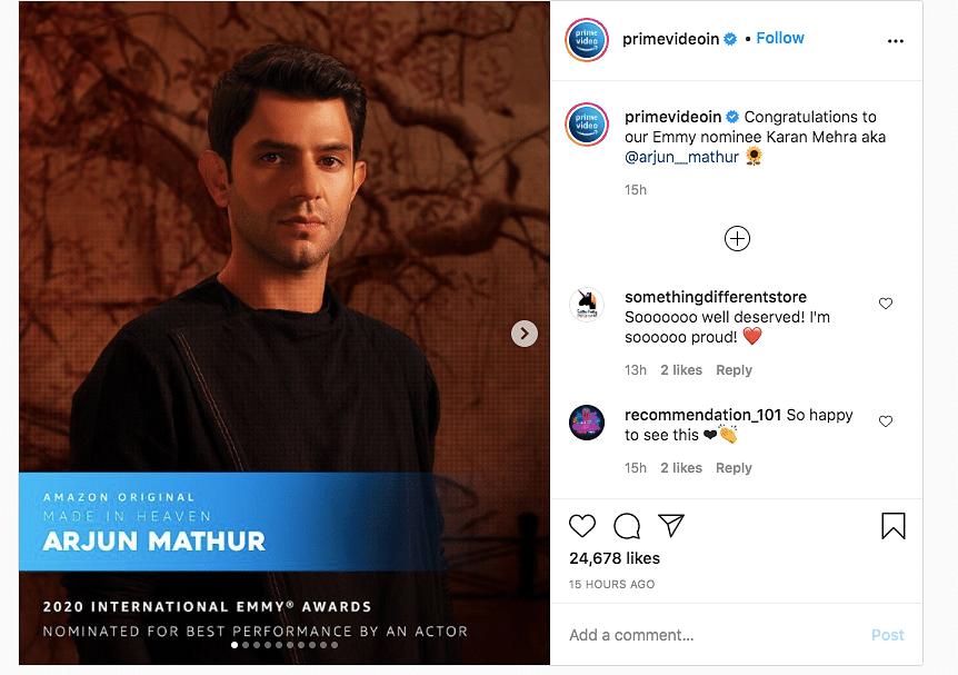 'Four More Shots', Arjun Mathur Nominated for International Emmys