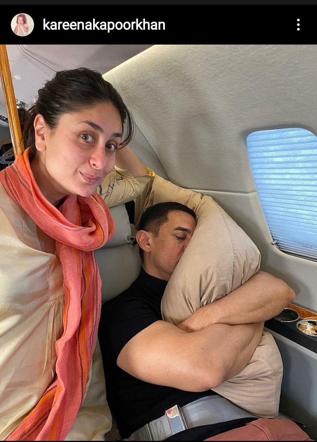 """My fav co-star has to be @_aamirkhan's... pillow! ❤️🤭"" - Kareena Kapoor Khan"