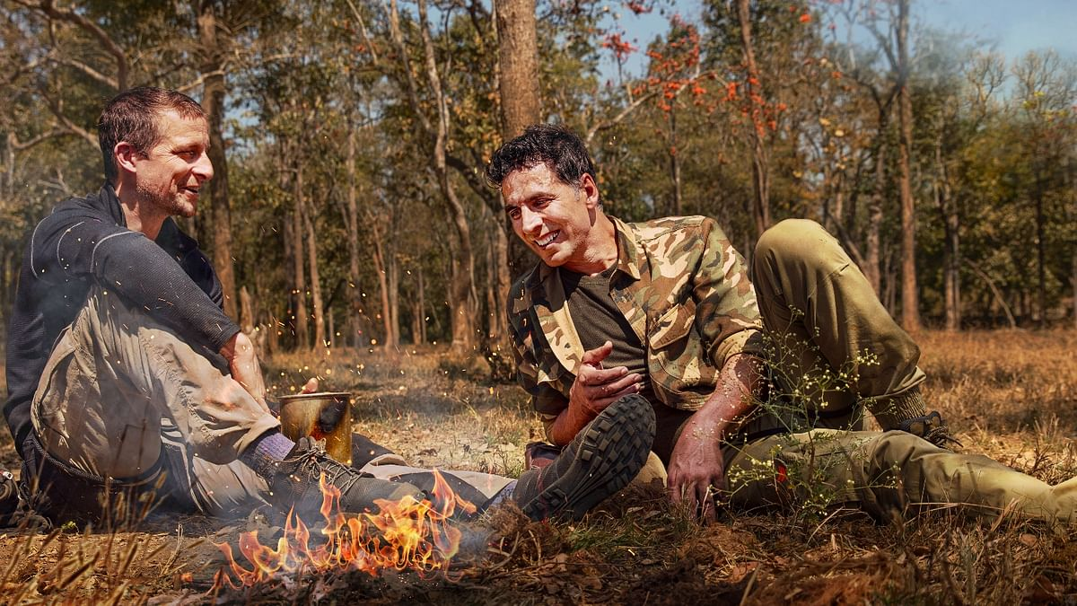 Akshay Kumar and Bear Grylls in an upcoming episode of 'Into The Wild With Bear Grylls'
