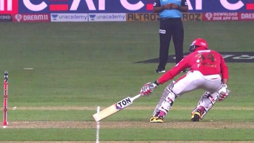 Mayank Agarwal was denied a run as the umpire signalled that it was a short run.