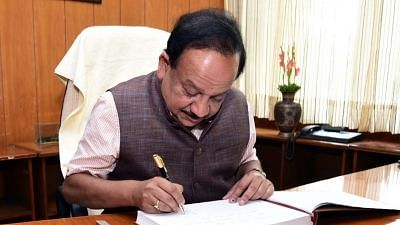 Health minister Dr Harsh Vardhan.