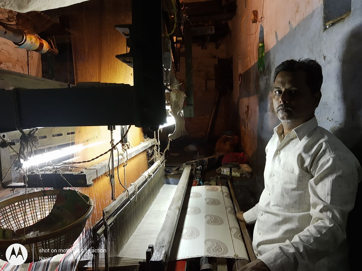 Increased electricity charges hamper weavers' work.