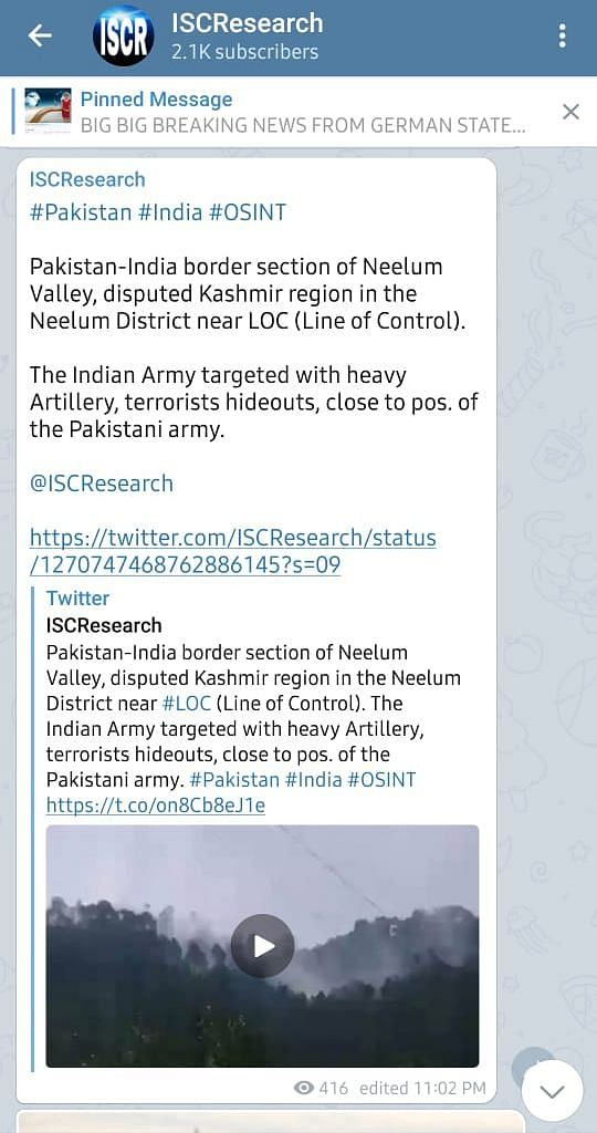 """You can read our fact-check <a href=""""https://www.thequint.com/news/webqoof/ani-shares-2019-visuals-as-ceasefire-violation-by-pak-along-loc"""">here</a>."""