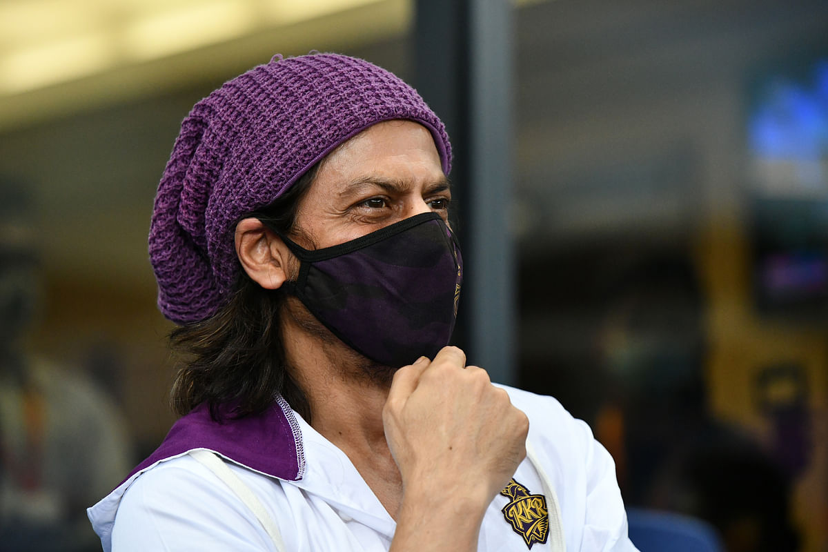 Shahrukh Khan was spotted in stands during the 13th edition of the league in the UAE.