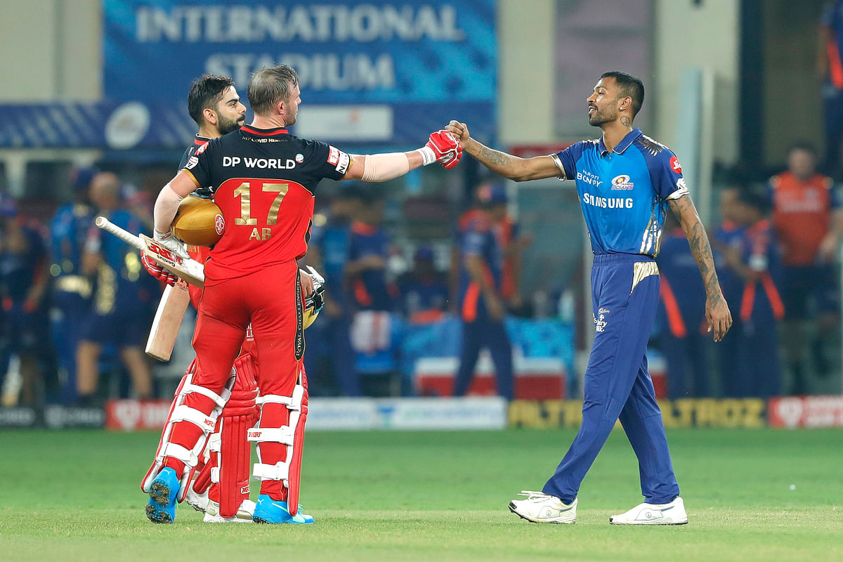 Virat Kohli and AB de Villiers scored the required runs off pacer Jasprit Bumrah to win two points for RCB.