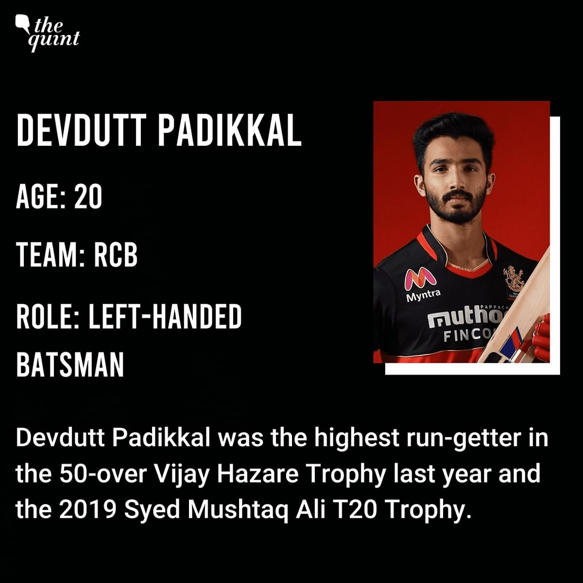 RCB's 20-Year-Old Opener Devdutt Padikkal Impresses on IPL Debut