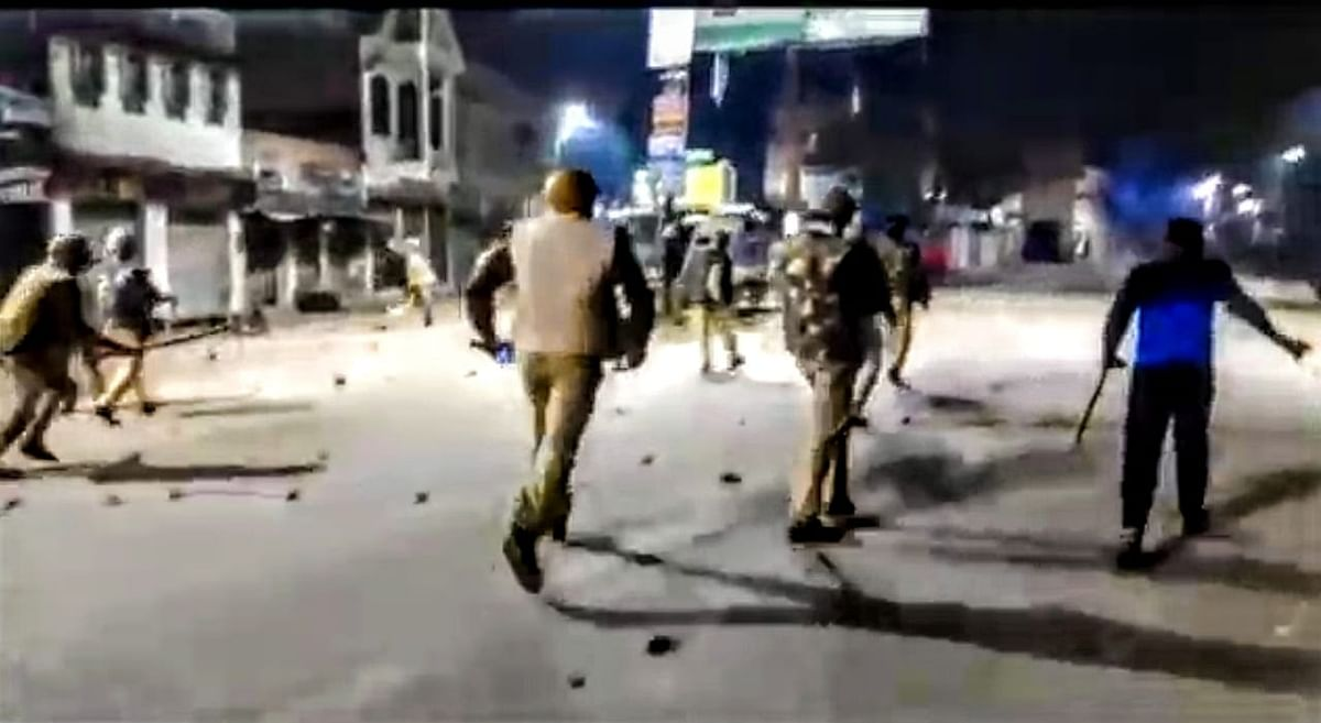 In videos that emerged of the violence, one can see the police and other people pelting stones at each other.