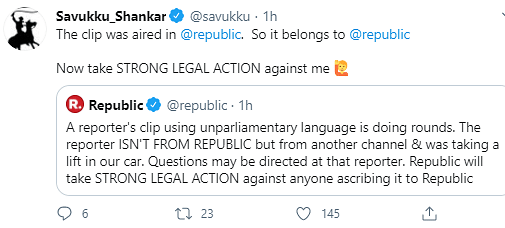 Twitter Reacts To Republic TV's Clip With Foul Language