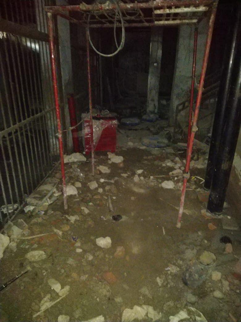 Waterlogging in the basement.