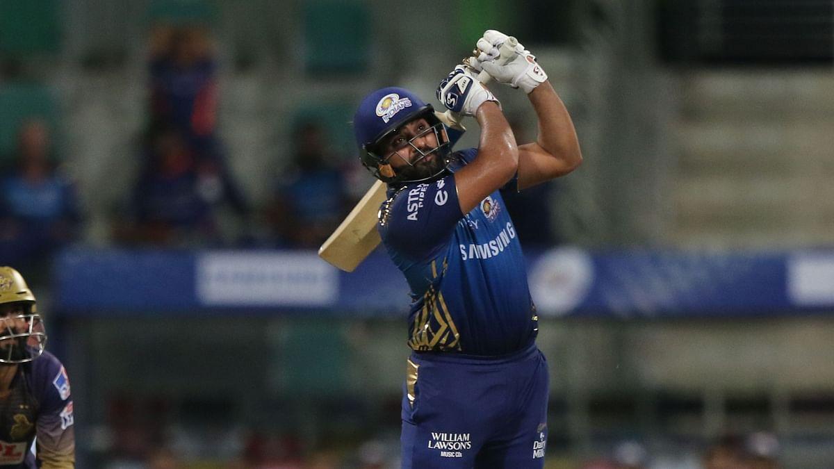 Rohit Sharma smashed a 54 ball 80 against KKR in Mumbai India's win on Thursday night.