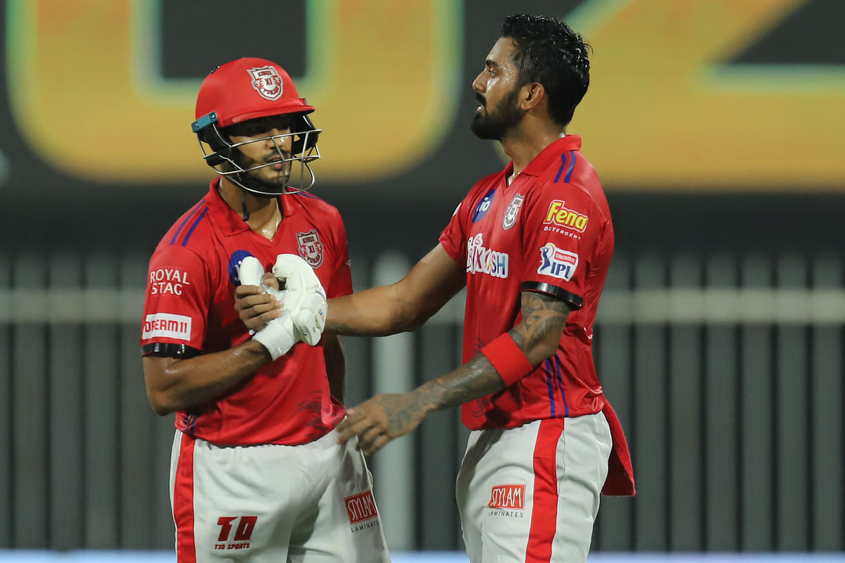 Openers KL Rahul and Mayank Agarwal got Kings XI Punjab to a fiery start with a massive 183-run partnership.