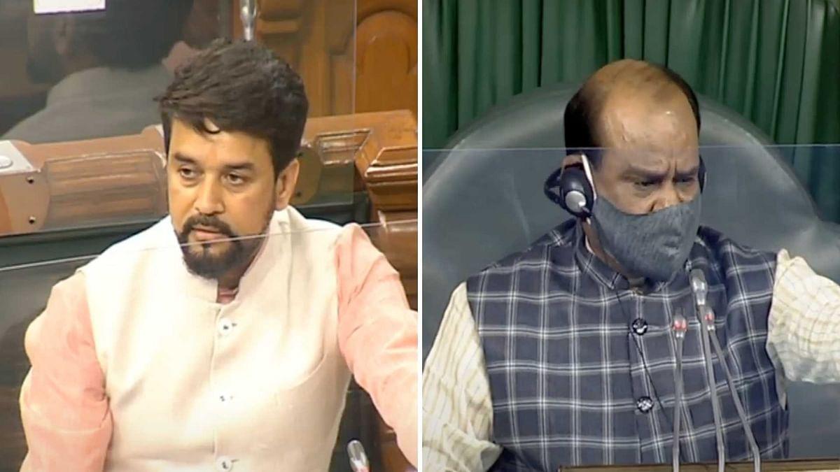 MoS Anurag Thakur Invokes Nehru in LS, Cong MP Calls Him 'Chhokra'
