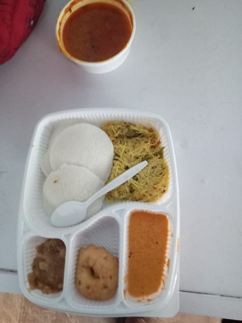 We would pack her food in throw-away containers so that she did not have to wash many vessels.