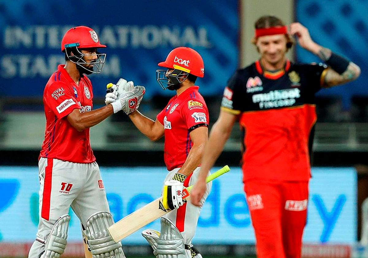 Kings XI Punjab skipper KL Rahul after scoring a century during IPL 2020 cricket match against Royal Challengers Bangalore, at Dubai International Cricket Stadium in Abu Dhabi on 24 September 2020.