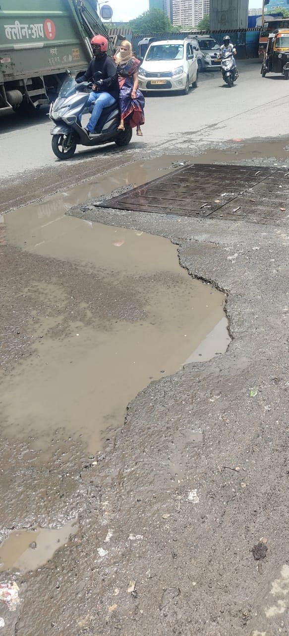 The road after BMC's temporary fix.