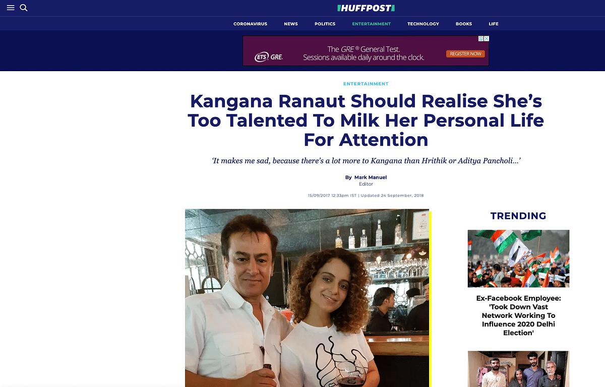 No, That's Not Abu Salem With Kangana Ranaut, It's Mark Manuel!