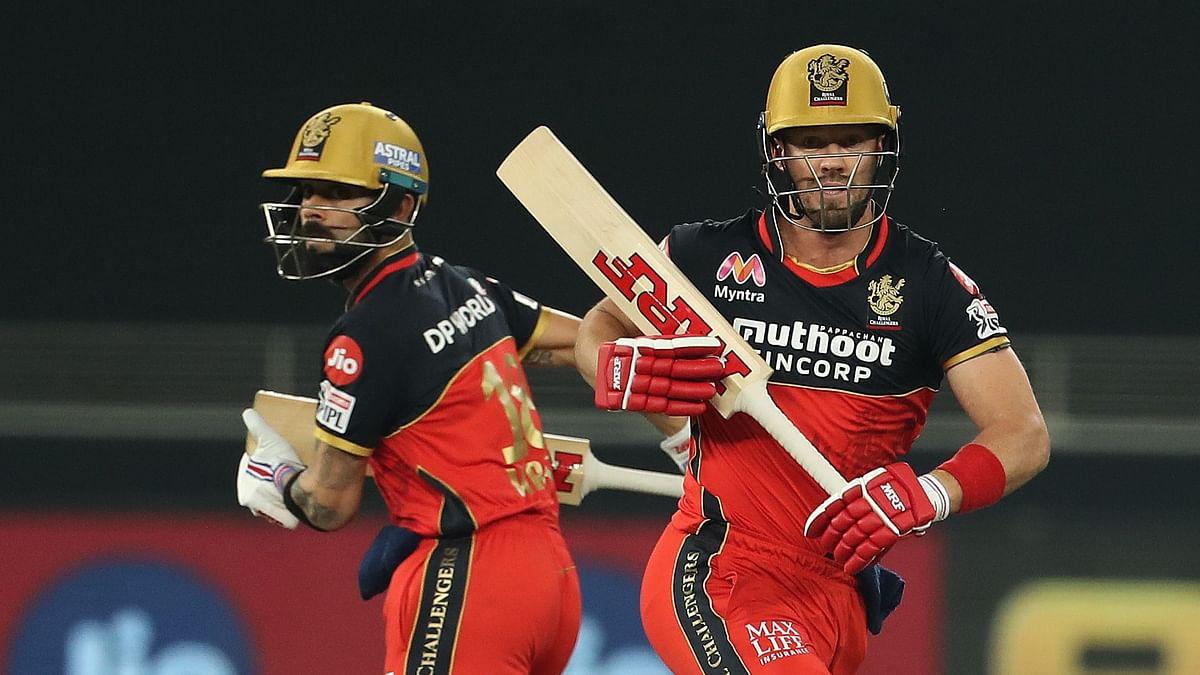 IPL 2020: Virat Kohli and AB de Villiers during RCB vs SRH.