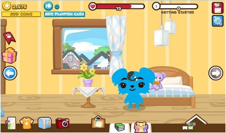 A screenshot from Pet Society.