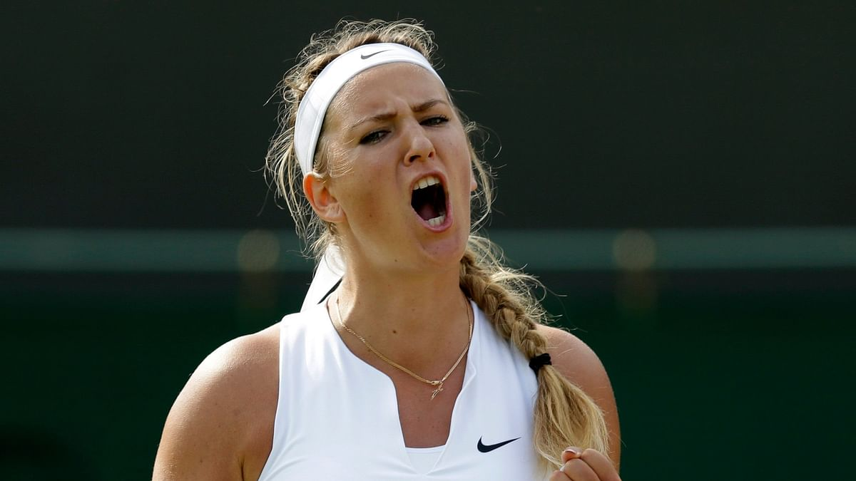 Azarenka defeated Elise Mertens to secure her place into her first Grand Slam semifinal since 2013