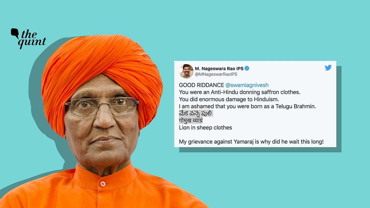 'Ex-CBI Chief's Tweet Against Agnivesh Has Harmed Hinduism & IPS'