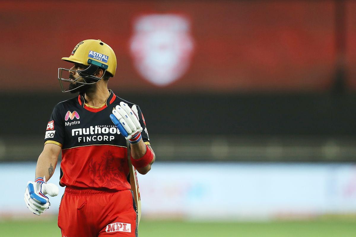 Virat Kohli scored 1 run against Kings XI Punjab.