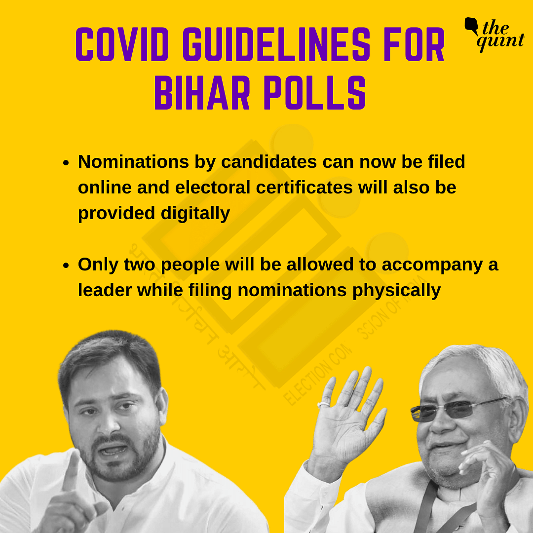 Bihar Polls to Start From 28 Oct Amid COVID-19; Results on 10 Nov
