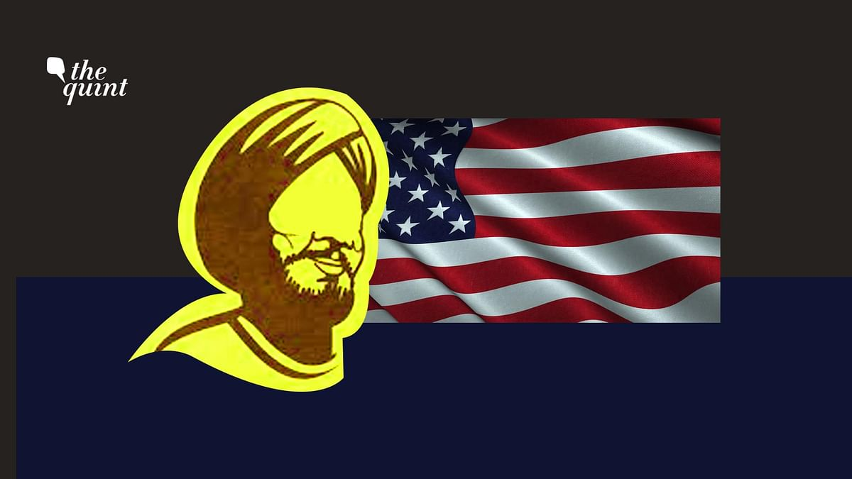 Image of a Sikh person and the American flag used for representational purposes.