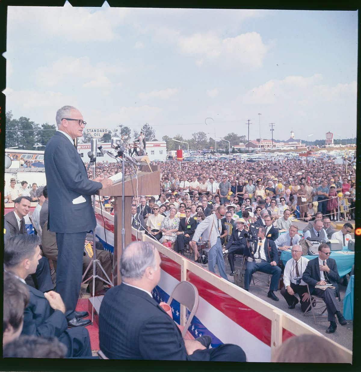 In 1964, GOP presidential candidate Barry Goldwater spoke of 'the growing menace in our country… to personal safety, to life, to limb and property