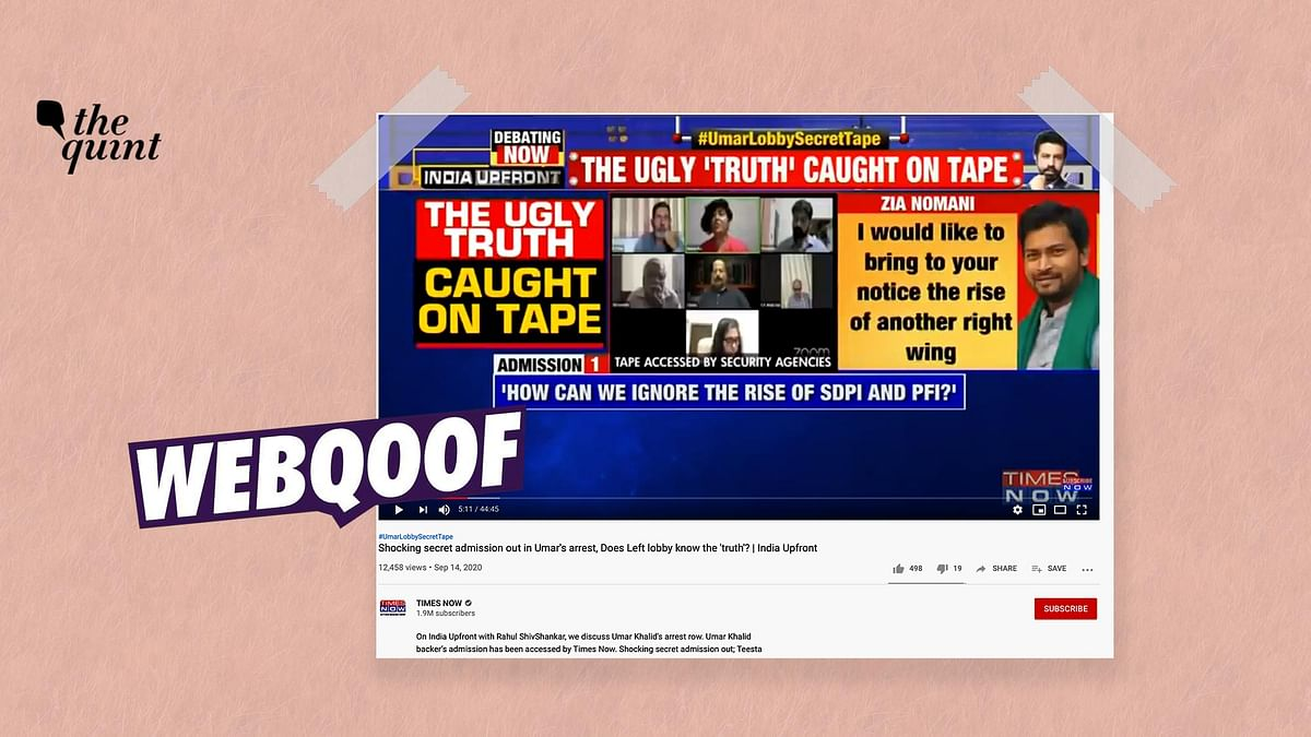 Times Now's news break on Khalid is nothing but a Zoom webinar where activists spoke about PFI and SDPI publicly.