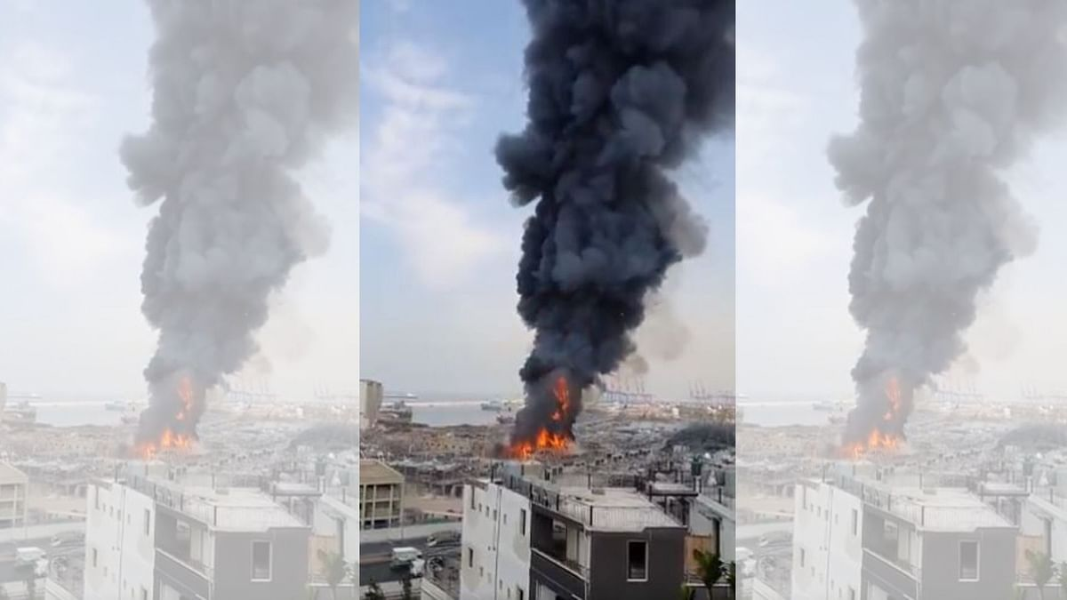 Month After Massive Blast, Fire Breaks Out at Beirut Port Area