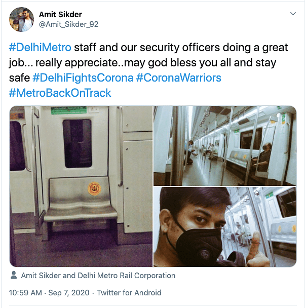 Delhi Metro Operational Again: Commuters Post Photos on Day 1
