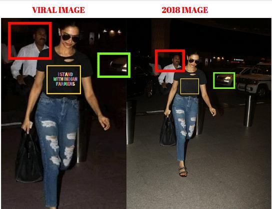 Left: Viral image. Right: 2018 original image.