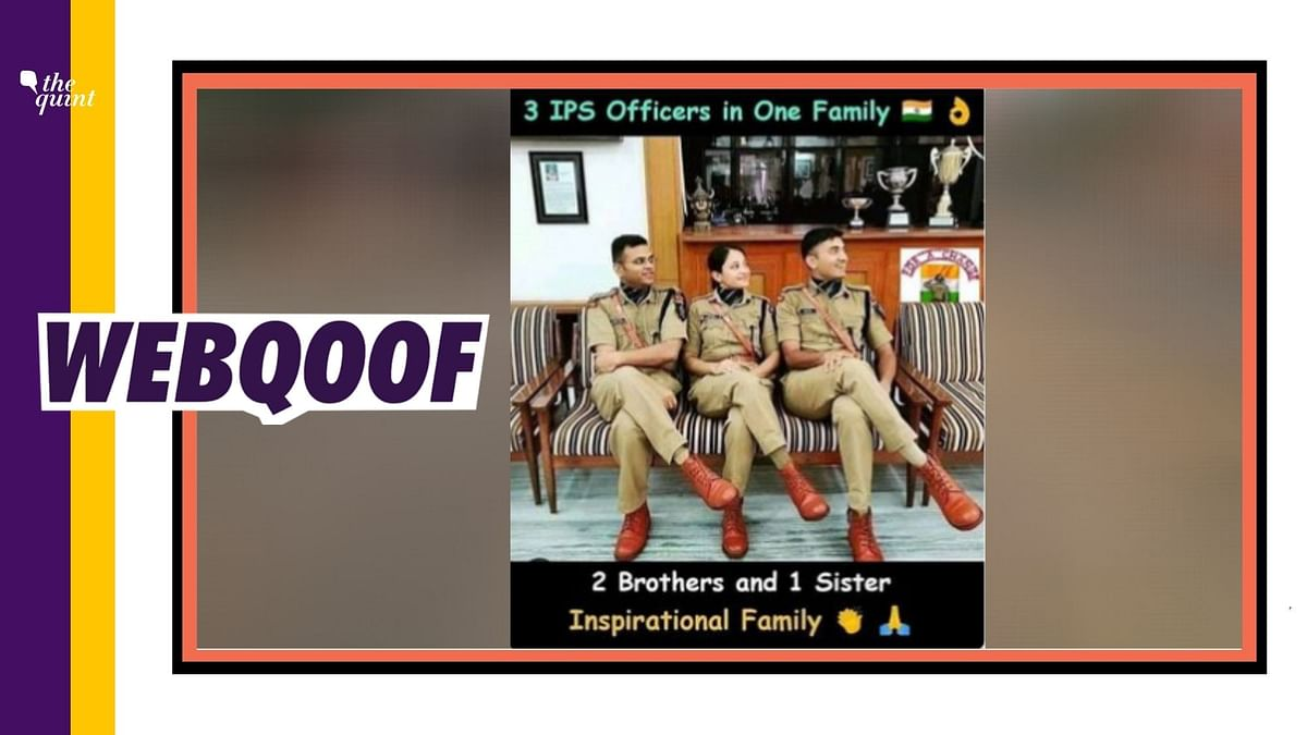 An image of three IPS officers was circulated with the false claim that they are from the same family.