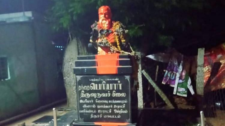 Periyar Bust in TN Desecrated With Saffron Paint, Police Probe On