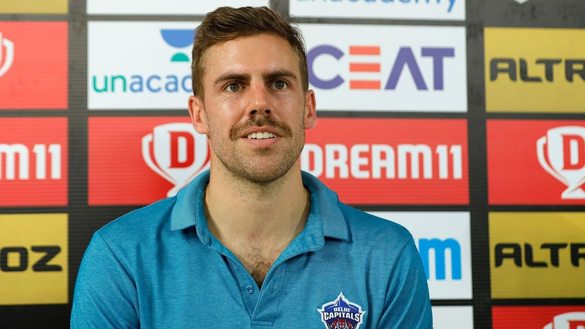 Delhi Capitals' fast bowler Anrich Nortje took wickets of Murali Vijay and Kedar Jadhav with figures of 4-0-21-2 against Chennai Super Kings