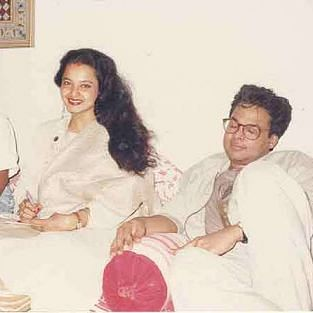 Rekha with her late husband Mukesh Aggarwal.