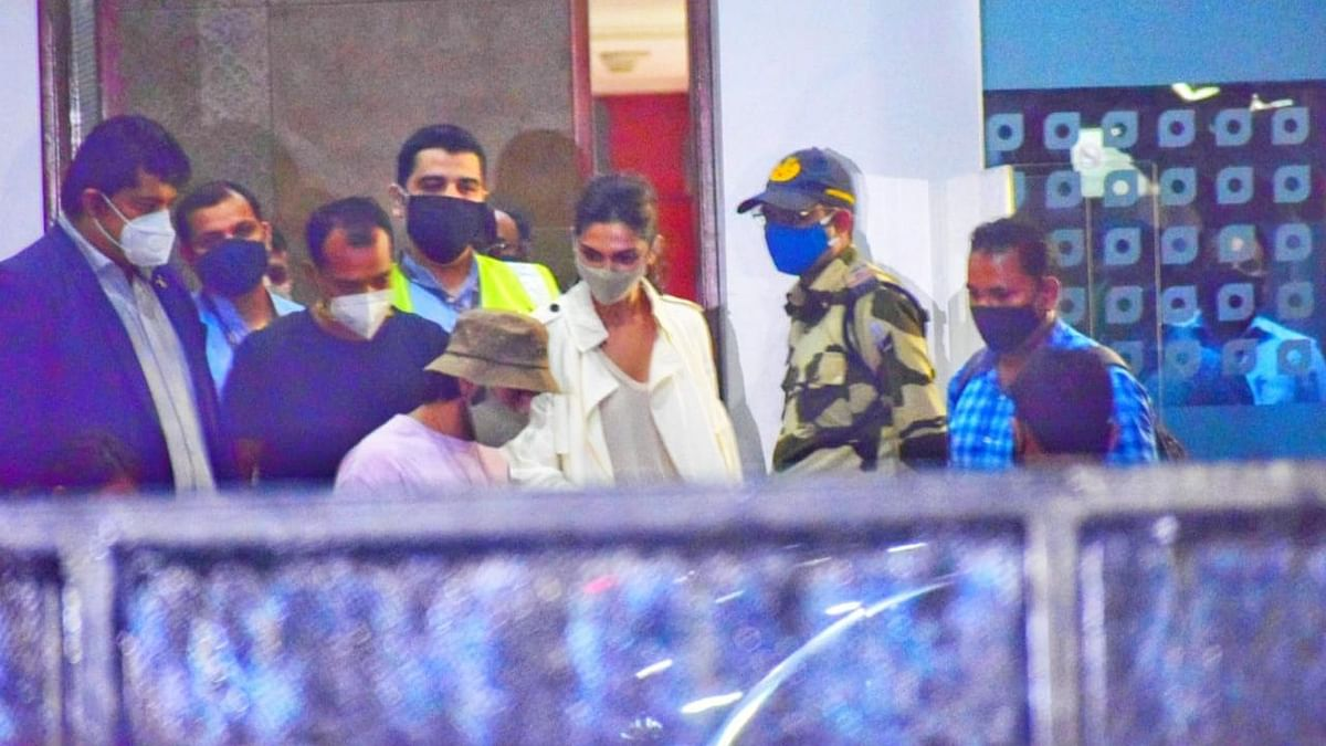 Deepika Padukone and Ranveer Singh arrive in Mumbai on Thursday night.