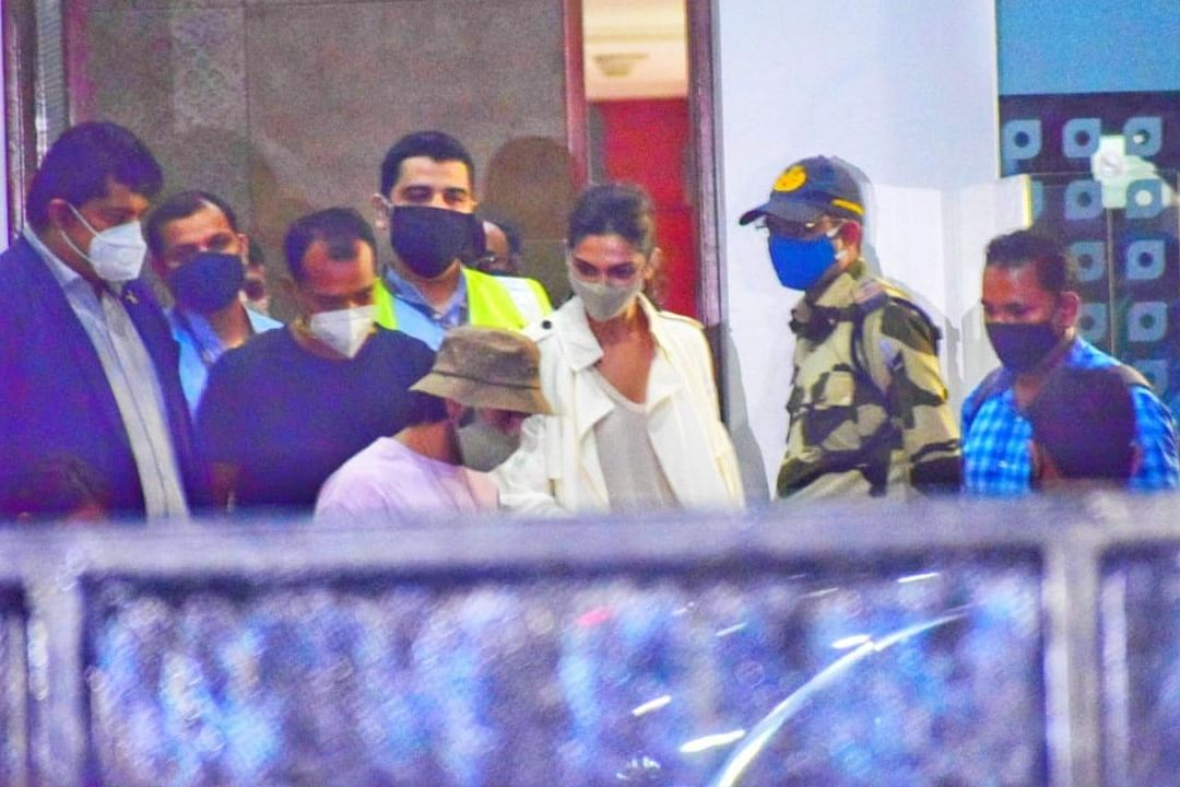 Deepika Padukone and Ranveer Singh arrive in Mumbai on Thursday night.