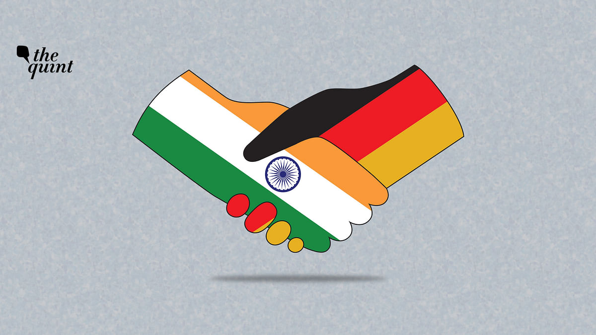 Image of Indian and German flags used for representational purposes