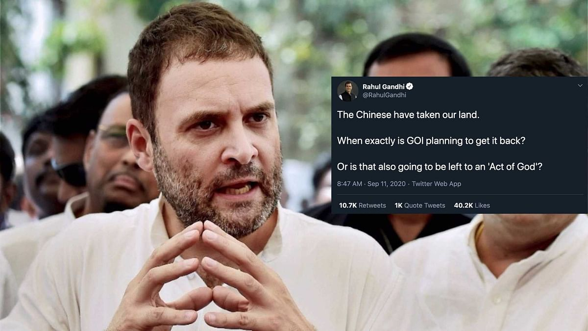 'When is GOI Getting Back Land Taken by Chinese?': Rahul Gandhi