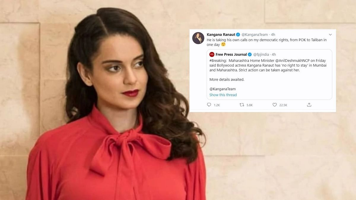 The Maharashtra government and Kangana Ranaut engaged in a war of words over the latter's 'Mumbai PoK' jibe earlier.